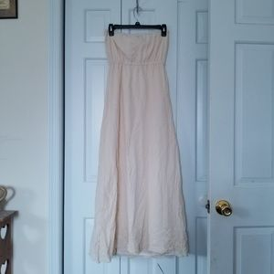 Strapless Dress with Lace Trim